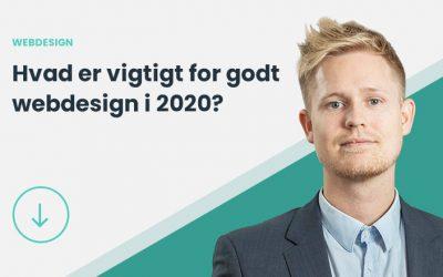 Hvad er vigtigt for webdesign i 2020? [GUIDE]