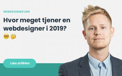 Webdesigner løn – Hvad tjener man som webdesigner i webbureau i 2020?