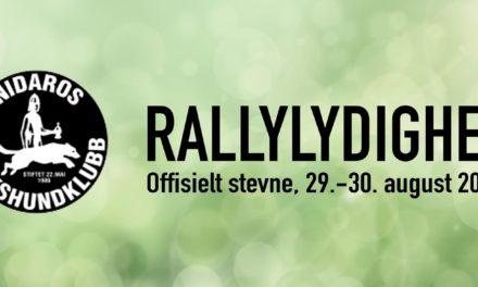 Rallystevne  29-30 august 2020