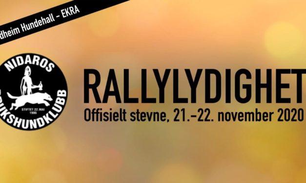 Rallylydighets stevne 21-22 november 2020