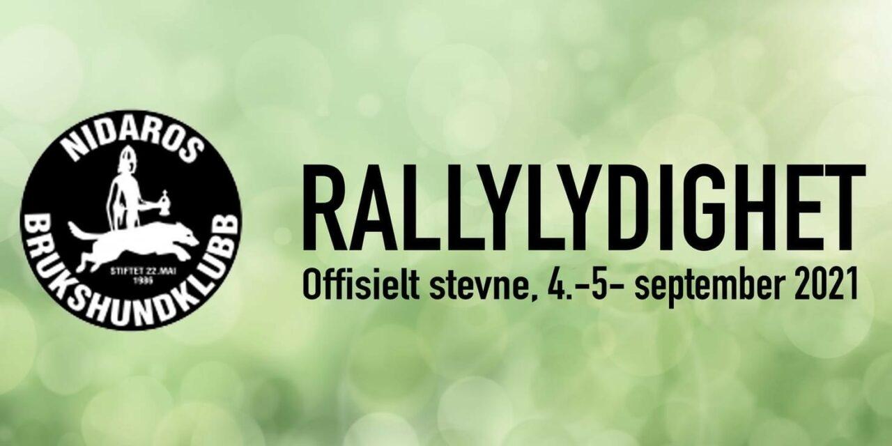 Offisielt stevne i Rallylydighet 4-5 september 2021