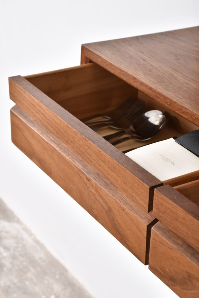 Detail small drawers cabinet - 15h x 30d x 80l