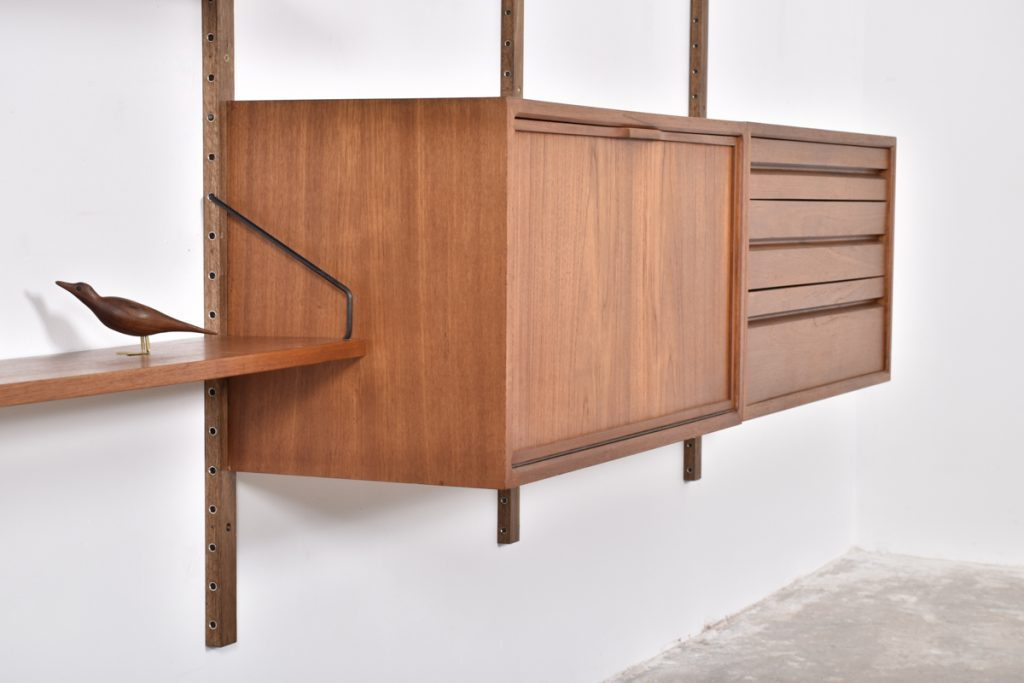 Drop front cabinet with handle and large drawer cabinet - 43,5h x 37,5d x 80l