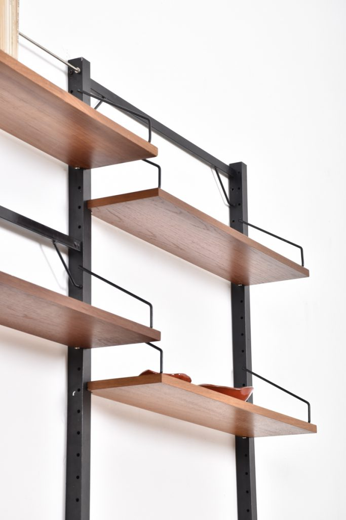 Detail - shelves and standing supports (metal, black)