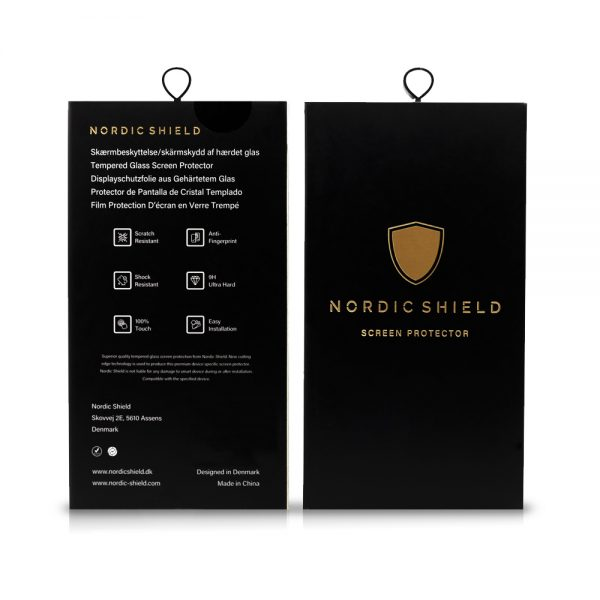 Nordic Shield emabllage hvid baggrund