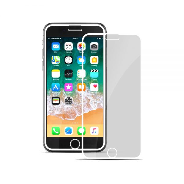 Nordic Shield Full Cover panserglas iPhone 6/7/8 hvid
