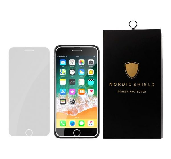 Nordic Shield Full Cover panserglas iPhone 6/7/8 hvid blister