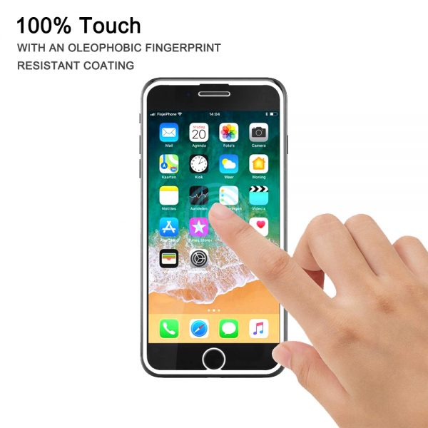Nordic Shield iPhone 7/8 100% touch panserglas hvid