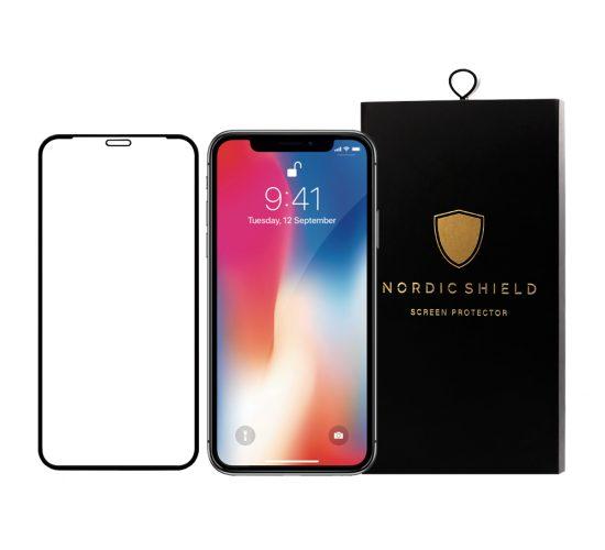 Nordic Shield panserglas iphone X/XS/11 Pro full cover blister produktbillede