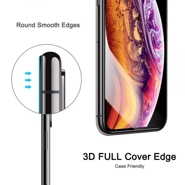 3d full cover edge nordic shield iphone X/XS/11 Pro skærmeskyttelse