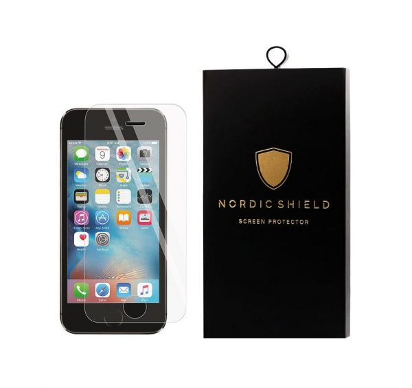 Nordic Shield iPhone 5 standard fit clear panserglas blister