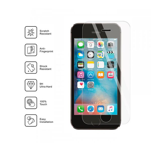 Nordic Shield iPhone 5 standard fit clear panserglas specifikationer