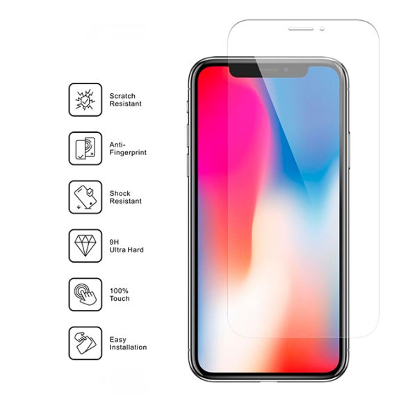 Nordic Shield iPhone X standard fit clear panserglar specifikationer