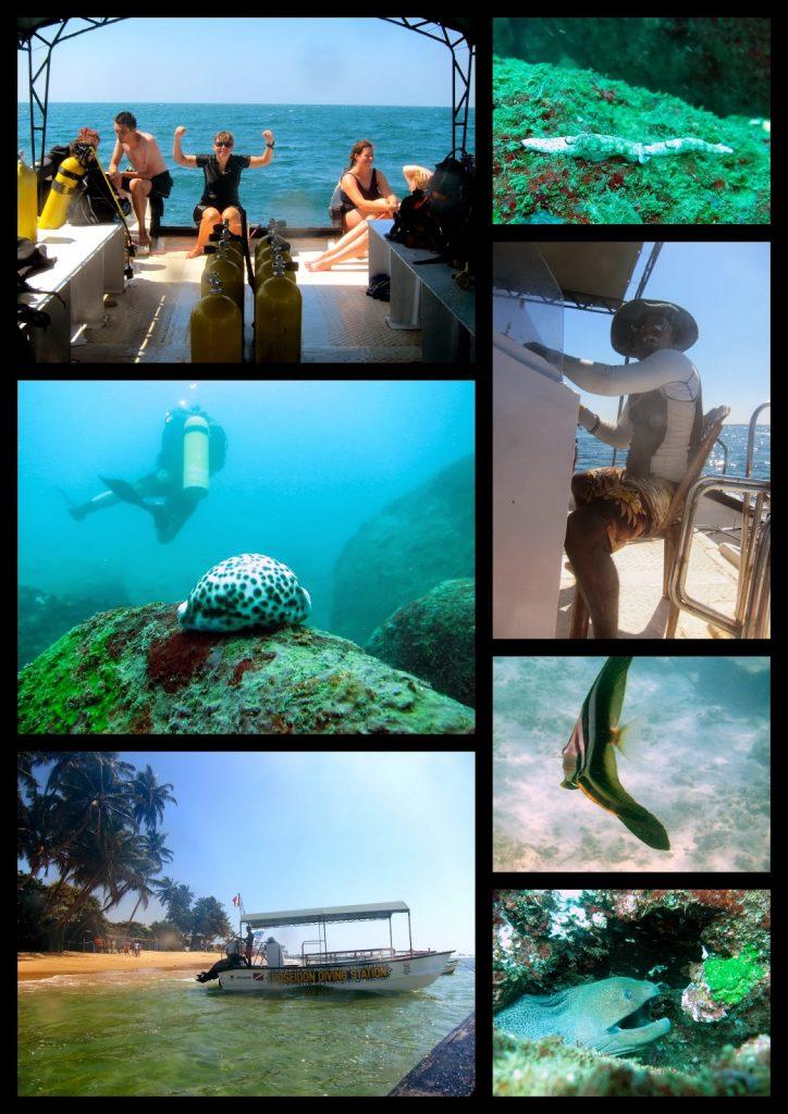 Poseidon diving station Hikkaduwa. Stedet å prøve dykking her i Hikkaduwa