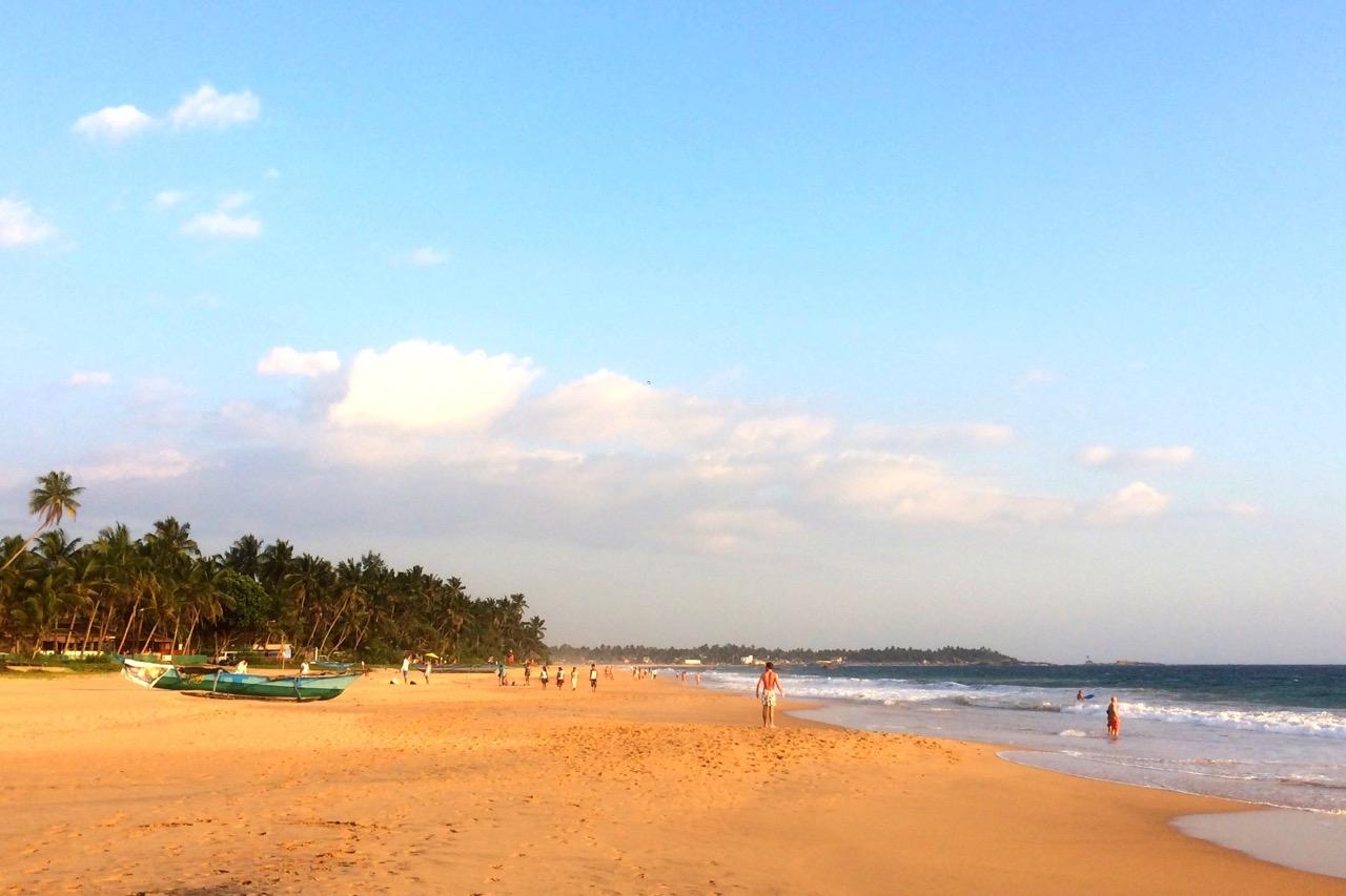 Hikkaduwa Sri Lanka strand sørksyten