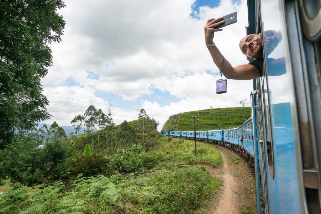 Tog i høylandet Sri Lanka