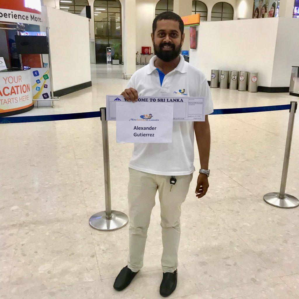 Hente flyplass sjåfør Sri lanka