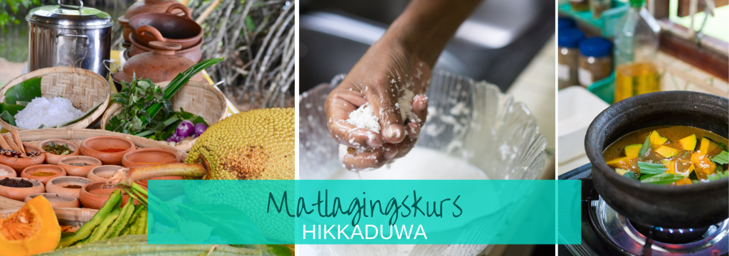 srilankisk mat Matlagingskurs Hikkadwa Rice & curry