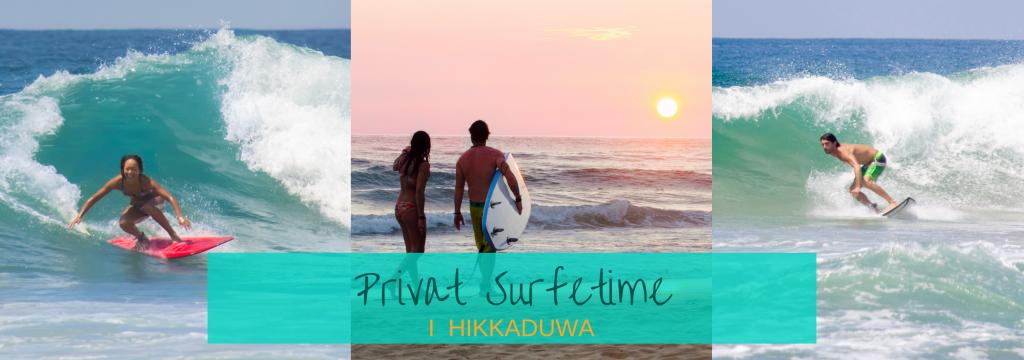 privat surfetime i Hikkaduwa lær å surfe med instruktør