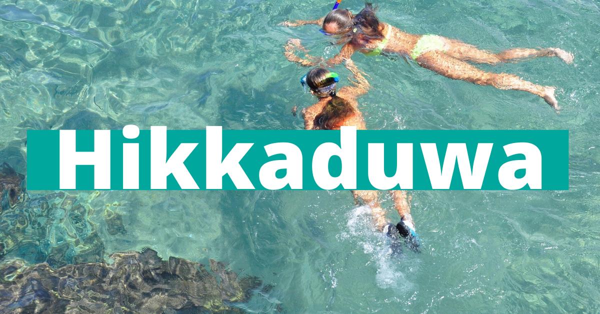 Hikkaduwa den beste stranda på Sri Lanka ?