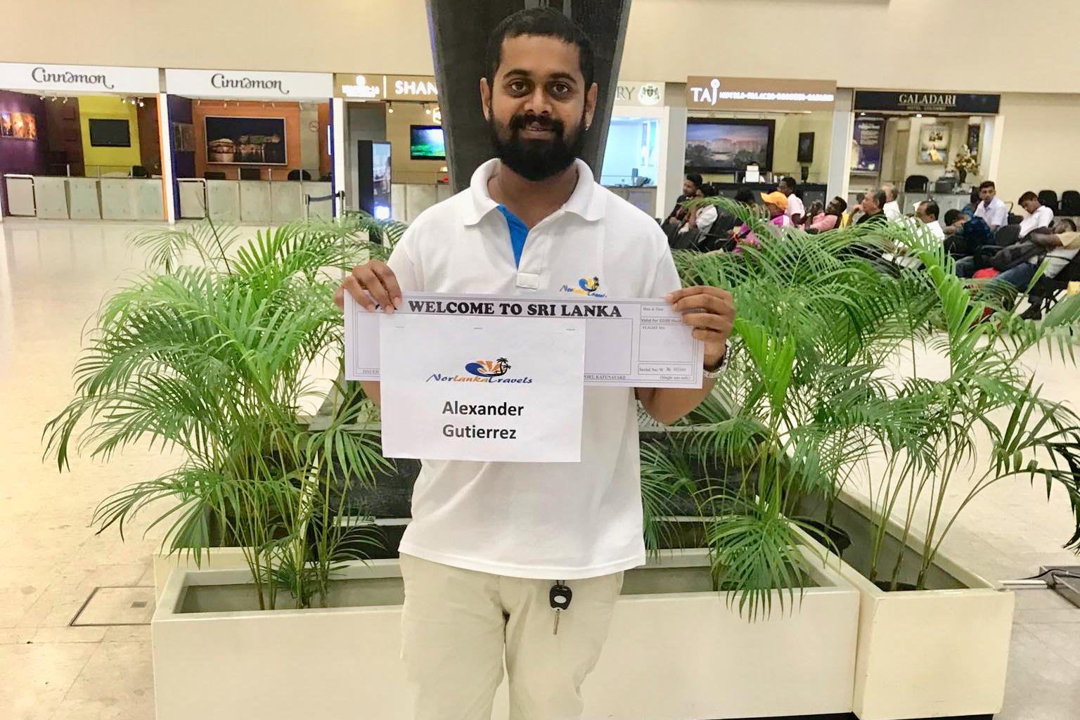 transport fra flyplass Sri Lanka