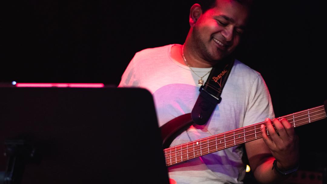 Emayavan on Bass Guitar!