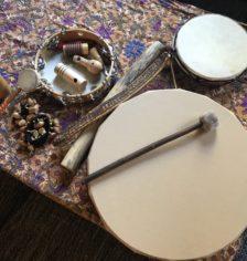 Atelier créatif Automne - Tambour chamanique, bâton de pluie, carillon