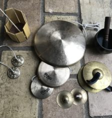 Gongs, cymbales, crotales, bol tibétain, octoblock