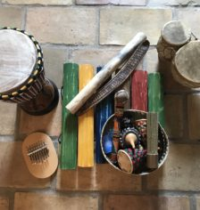 Ensemble d'instruments africains