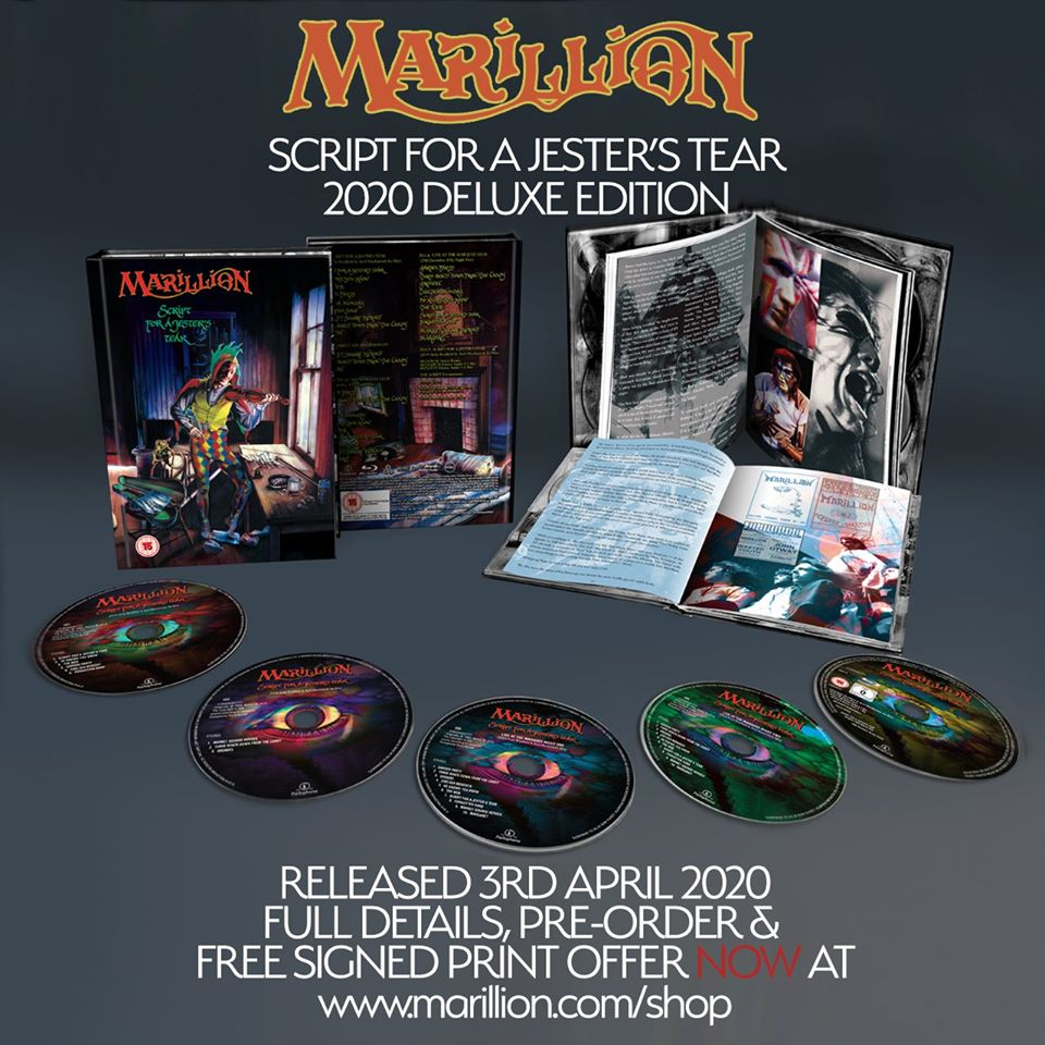 "MARILLION: ""Script For A Jester's Tear"" Deluxe Edition – COMPRA"