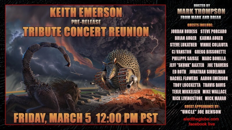 Keith Emerson: il Tribute Show online, rivivi la mega-reunion