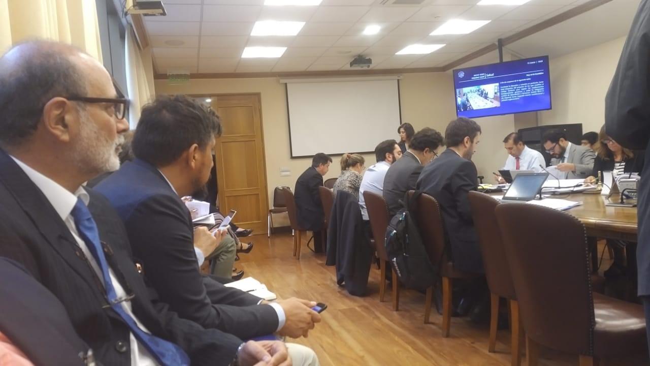 Presidente de AFFI Chile, Héctor Rojas, en la sesión de la Comisión de Salud de la Cámara de Diputados.