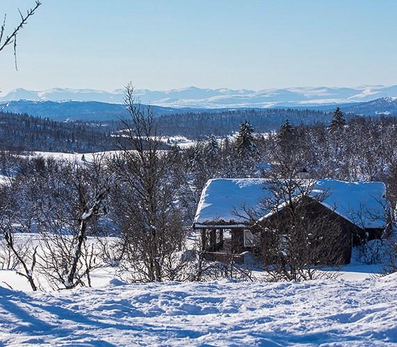 Vinterhytte på Ølsjølitoppen