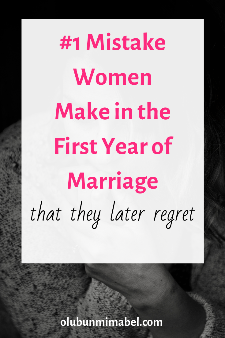 #1 Mistake New Wives Make