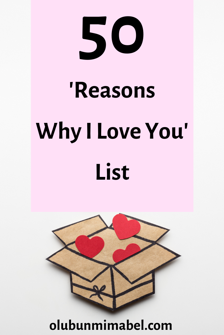 50 Reasons Why I Love You List