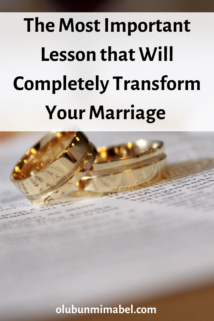 The Most Painful but Important Lesson I've Learnt in Marriage