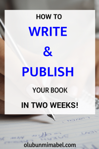 how to write and publish your book fast