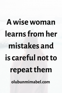 Habits of a wise woman