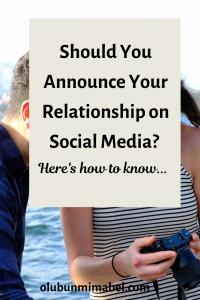 Announce Relationship on social media