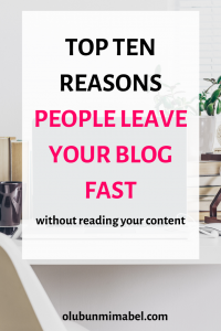 why people leave your blog