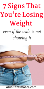 Signs that You're losing weight