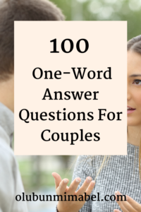 one-word answer questions