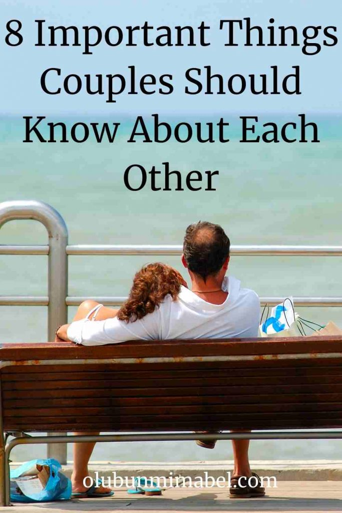 things couples should know about each other