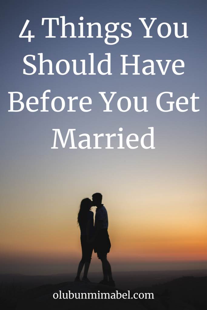 things to have before getting married