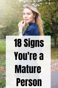 signs of a mature person