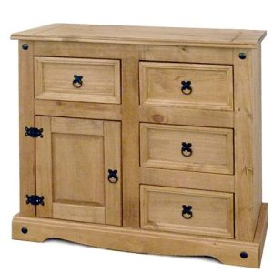 Corona 1 Door 4 Draw Sideboard