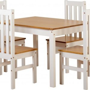 Ludlow White 4 Chair Dining Set