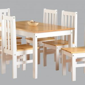 Ludlow White 6 Chair Dining Set