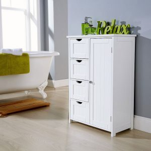 White Bathroom Multi Storage Unit
