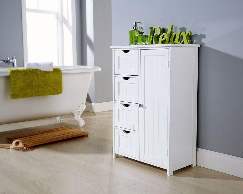 White Bathroom Multi Storage Unit One
